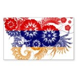 Armenia Flag Sticker (Rectangle 10 pk)