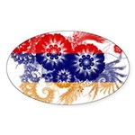 Armenia Flag Sticker (Oval 50 pk)