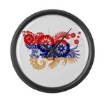 Armenia Flag Large Wall Clock