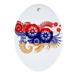Armenia Flag Ornament (Oval)