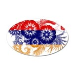 Armenia Flag 38.5 x 24.5 Oval Wall Peel