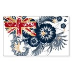 Australia Flag Sticker (Rectangle 50 pk)