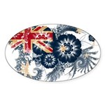 Australia Flag Sticker (Oval)