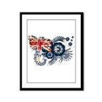 Australia Flag Framed Panel Print