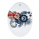 Australia Flag Ornament (Oval)