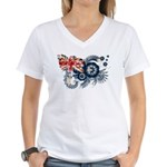 Australia Flag Women's V-Neck T-Shirt