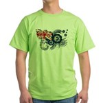 Australia Flag Green T-Shirt
