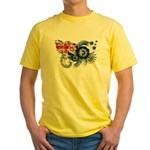 Australia Flag Yellow T-Shirt