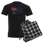 Australia Flag Men's Dark Pajamas