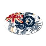 Australia Flag 22x14 Oval Wall Peel