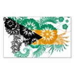 Bahamas Flag Sticker (Rectangle 50 pk)