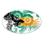 Bahamas Flag Sticker (Oval 10 pk)