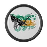 Bahamas Flag Large Wall Clock