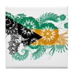 Bahamas Flag Tile Coaster