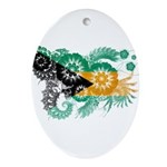 Bahamas Flag Ornament (Oval)