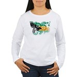 Bahamas Flag Women's Long Sleeve T-Shirt