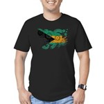 Bahamas Flag Men's Fitted T-Shirt (dark)