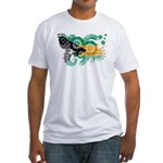 Bahamas Flag Fitted T-Shirt