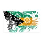 Bahamas Flag 38.5 x 24.5 Wall Peel