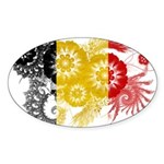Belgium Flag Sticker (Oval)