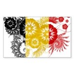Belgium Flag Sticker (Rectangle)
