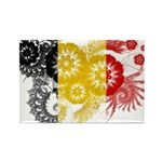 Belgium Flag Rectangle Magnet (100 pack)