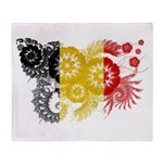 Belgium Flag Throw Blanket