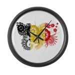 Belgium Flag Large Wall Clock