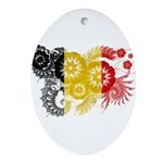 Belgium Flag Ornament (Oval)