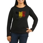 Belgium Flag Women's Long Sleeve Dark T-Shirt