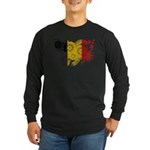 Belgium Flag Long Sleeve Dark T-Shirt