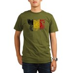 Belgium Flag Organic Men's T-Shirt (dark)