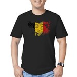 Belgium Flag Men's Fitted T-Shirt (dark)