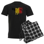 Belgium Flag Men's Dark Pajamas