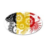 Belgium Flag 38.5 x 24.5 Oval Wall Peel
