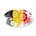 Belgium Flag 22x14 Oval Wall Peel