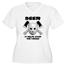 Beer Helps Stop The Voices T-Shirt