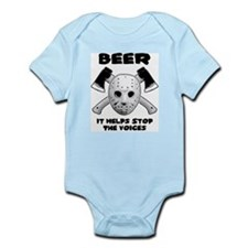 Beer Helps Stop The Voices Infant Bodysuit