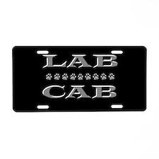 Lab Cab Aluminum License Plate