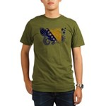 Bosnia and Herzegovina Flag Organic Men's T-Shirt