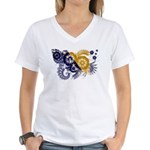 Bosnia and Herzegovina Flag Women's V-Neck T-Shirt