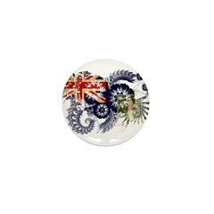 British Virgin Islands Flag Mini Button (10 pack)