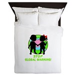 Stop Global Warming Queen Duvet