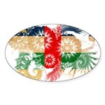 Central African Republic Flag Sticker (Oval 50 pk)