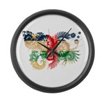 Central African Republic Flag Large Wall Clock