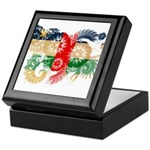 Central African Republic Flag Keepsake Box