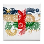 Central African Republic Flag Tile Coaster