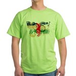 Central African Republic Flag Green T-Shirt