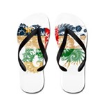 Central African Republic Flag Flip Flops