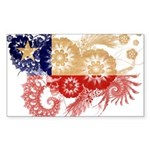 Chile Flag Sticker (Rectangle 50 pk)